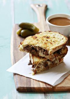 Slow Cooker French Dip Panini | Easy French Dip Recipe | Good Life Eats