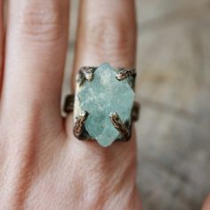 Aquamarine Regal Ring now featured on Fab.