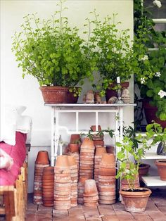 put a potting area just about anywhere you want it