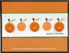 Buttons as Pumpkins