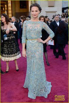 Fan Bingbing & Alicia Vikander - Oscars 2013 Red Carpet