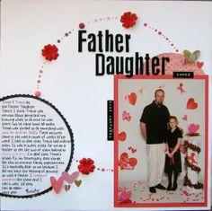 Scrapbook Page Craft Idea - Father Daughter Dance