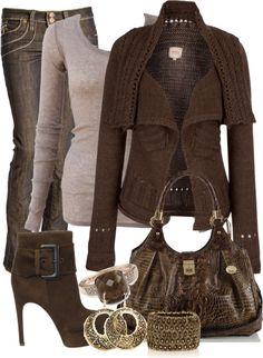 """Brown"" by missred76 ❤ liked on Polyvore"