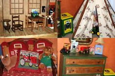 One of the best cowboy, western, John Deere rooms ever!