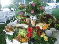 food display, table displays, buffet tables, cheese dips, food tables, party buffet, fruit displays, food presentation, parti