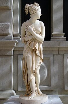 Antonio Canova | Venus Italica - Probably ca. 1822–23, variant of marble firsexecuted 1810. Height: 69 in. My favorite!,,,
