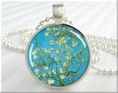Van Gogh Jewelry Blossoming Almond Tree by MGArtisanPendants, $12.95