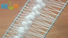 Hairpin Crochet Beautiful Strips Tutorial 21 Puff Stitches in the Middle