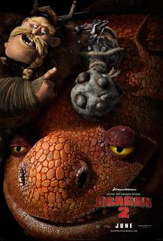 How to Train Your Dragon 2, gobber and his dragon that I forget the name of. how to train your dragon 2, how to train your dragon2