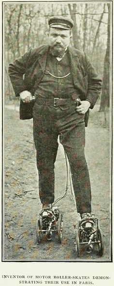Mr Constantini's gas motor boots, 1909