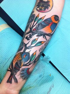 birds & branches #forearm #tattoos