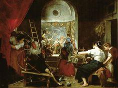 Diego Velazquez, Baśń o Arachne (Prządki, Manufaktura tapiserii Santa Isabel)