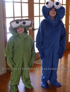 Coolest Cookie Monster and Oscar the Grouch Costumes... Coolest Homemade Costume Contest