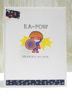 KA-POW! using STAMPtember® exlusive stamps from Simon Says Stamp and Mama Elephant by Jennifer Ingle
