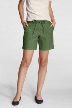 "Women's Regular Fit 2 Bedford 7"" Shorts from Lands' End"