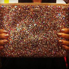 Kate Spade Glitter Clutch.....one of my favorite items