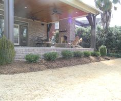 Great backporch accent ideas from www.greatscottlandscapeservices.com!