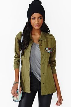 Decorated Army Jacket