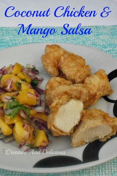 Taste from the Islands in both the Chicken and the Salsa and so quick & easy to make   #Chicken #Salsa #MangoSalsa