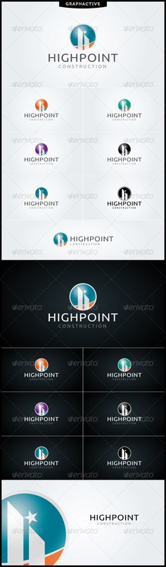 Cmyk color mode highpoint logo template is totaly vector logo