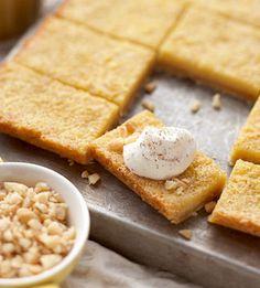 Creamy Eggnog Bars