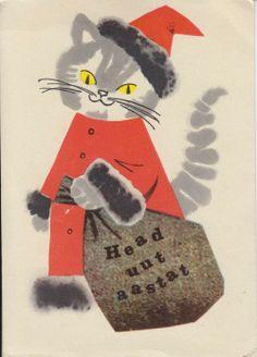 Estonian New Year postcard by artist L.Härm, 1966