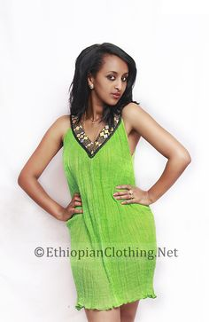 Modern habesha kemis/dress -cotton