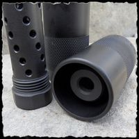 $47 add oil can and you have suppressor Kineti-Tech 2 Piece Muzzle Brake Sound Director Twisted Ports with 13/16 X 16 OD Threads