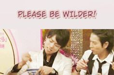 Sho×Jun. Is it strange I know exactly which show this was and who was the fuestw? lol