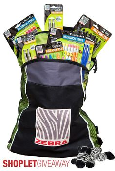 Shoplet.com is giving away Zebra Pen Goodie Bag! Here's how to win: Follow Shoplet on Pinterest, repin this post, go to the Shoplet Blog before July 22nd  us why you want this amazing prize pack! #giveaways