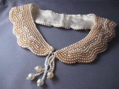 Beautiful Vintage Beaded Collar. $45.00, via Etsy.
