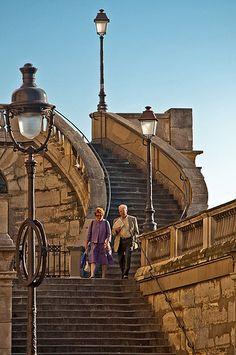 Gare de l'Est stairs in  Paris