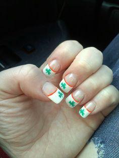 my St. Patrick's day nails :) patti nail, longer nail, makeup, beauti, nails, nail design, st patrick, hair, nail art