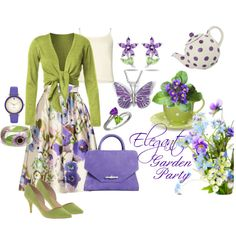 """Elegant Garden Party Ensemble"" by bschultea on Polyvore"