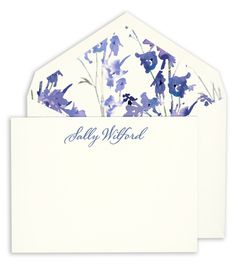Correspondence Cards with Marine Blue Painted Edge on Boardstock