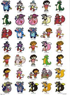 Dora the explorer embroidery designs