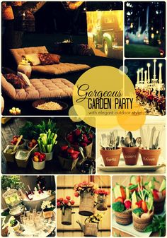 Who doesn't love the idea of a gorgeous #outdoor #garden #party for your next summer event? This blog covers food, lighting, decor and luxury style! #snappening