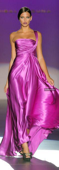 Hannibal Laguna Spring Summer 2012...Mauve gown