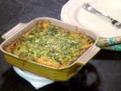 Crustless Spinach Cheese Quiche from FoodNetwork.com