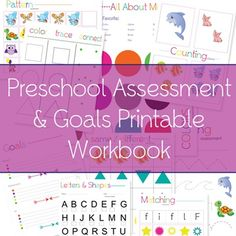 Preschool Assessment - Great book to give to parents for end of the year