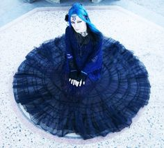Always loved turquoise #blue hair on a #goth girl