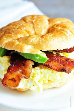 ~C~ *Egg Croissant with Bacon and Avocado