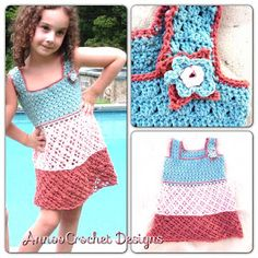Annoo's Crochet World: Bermuda Bliss Tricolor Dress Free Pattern