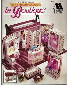 Fashion Doll LA Boutique Plastic Canvas by grammysyarngarden, $28.00