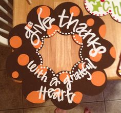 Thanksgiving wreath by ejhaworth85 on Etsy