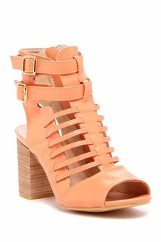 Pretty in peach cage heels