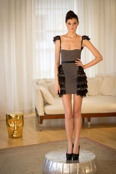 The Neve Mini Cocktail Ruffle Dress, Pre-Order Only