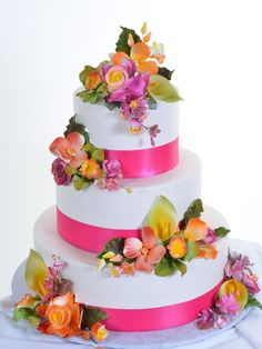 Pastry Palace Las Vegas - Wedding Cake #922 - Spring Bouquets