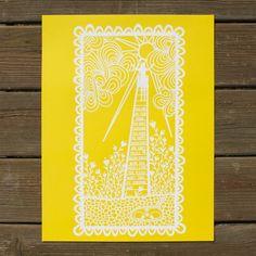 You Are My Sunshine Silkscreen Print — White by Lori Danelle