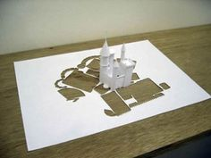 Castle Pop Up Magic! (Click for more office supplies-to-masterpiece photos! www.designer-daily.com/from-ordinary-office-supplies-to-awesome-artworks-27422#)